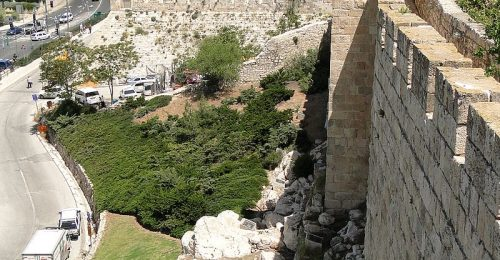 View_from_Old_City_Ramparts_Walk_-_Jerusalem_-_Israel_(5683986875)